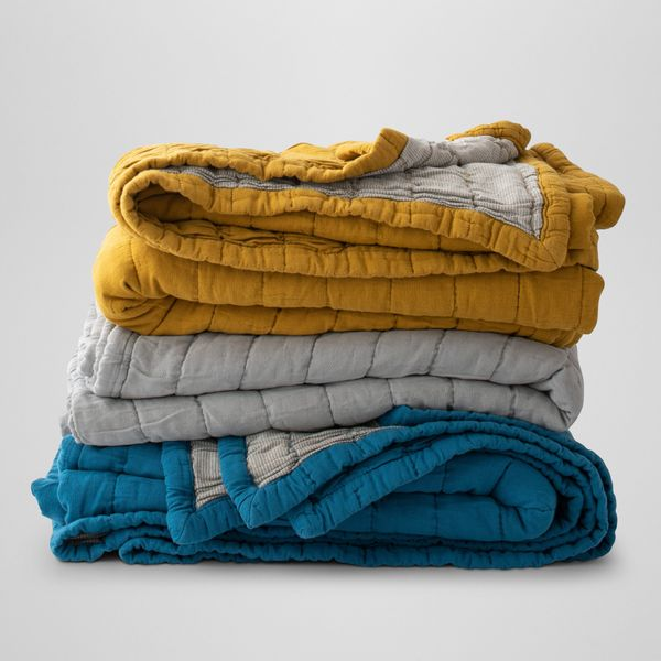 Schoolhouse Channeled Cotton Quilt, Queen