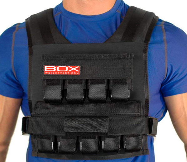 45 Lb. BOX Weighted Vest for CrossFit and Gym Bodyweight Training