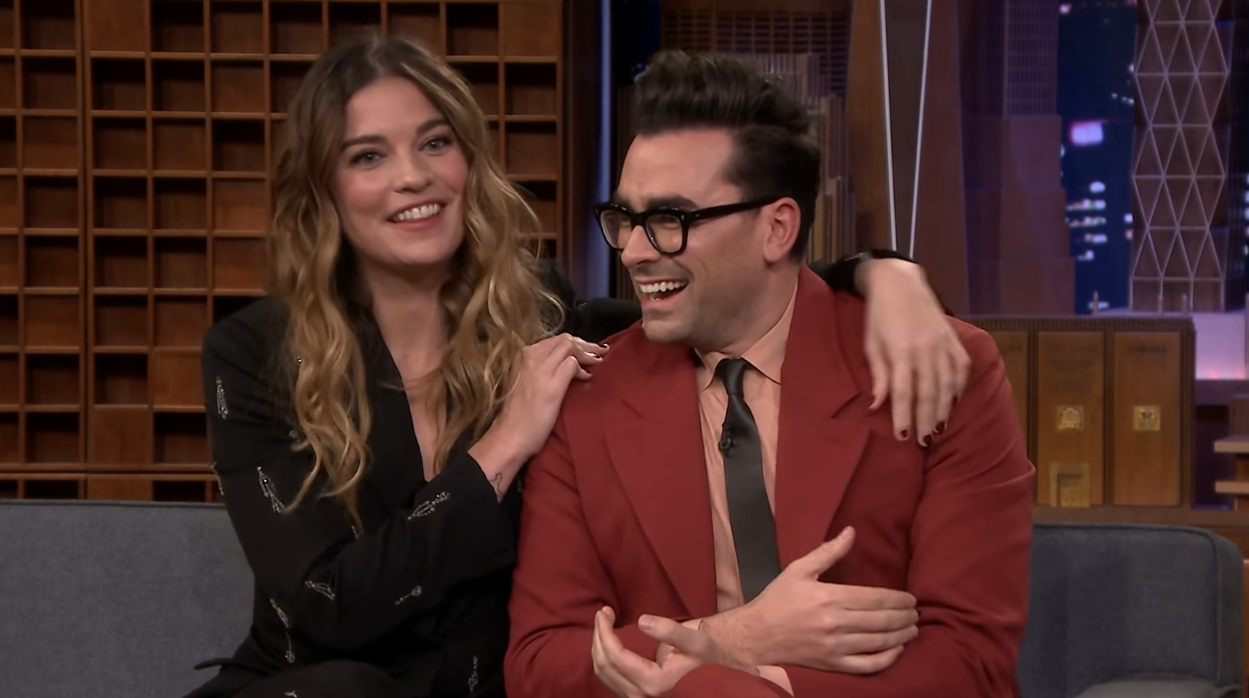 Share the Cast of Schitt's Creek's Love on The Tonight Show