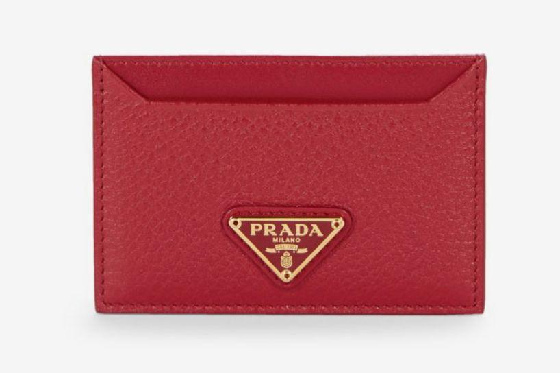 Prada Textured Leather Card Holder