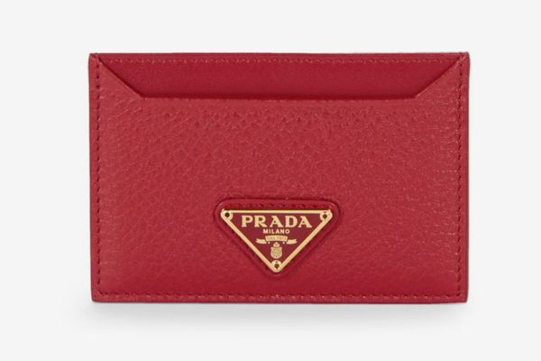 Prada Textured Leather Card Holder