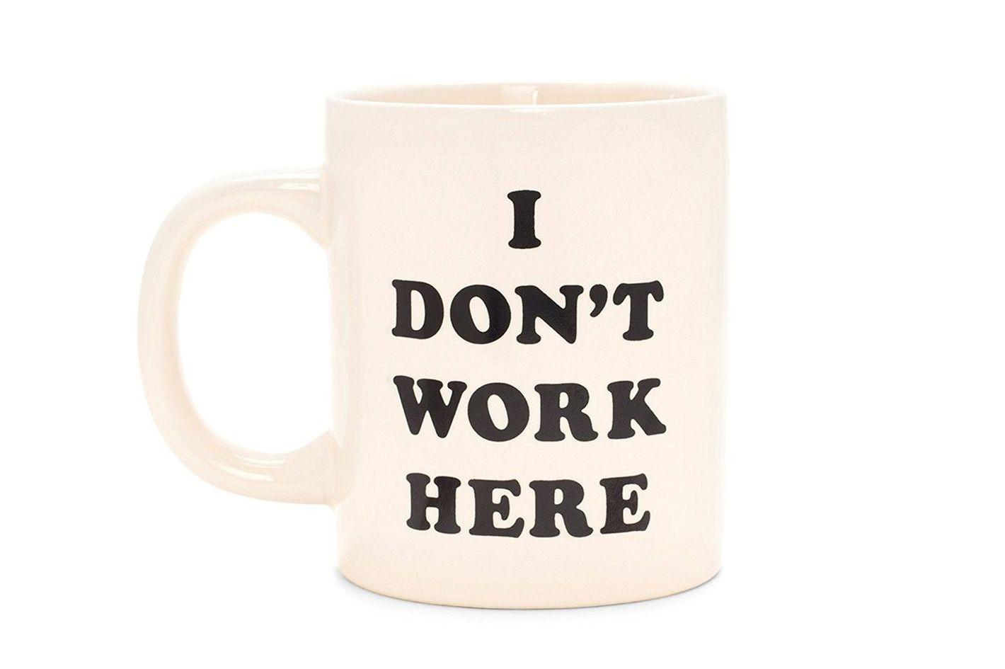 Ban.do I Don't Work Here Ceramic Mug