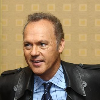 Actor Michael Keaton attends a press conference for