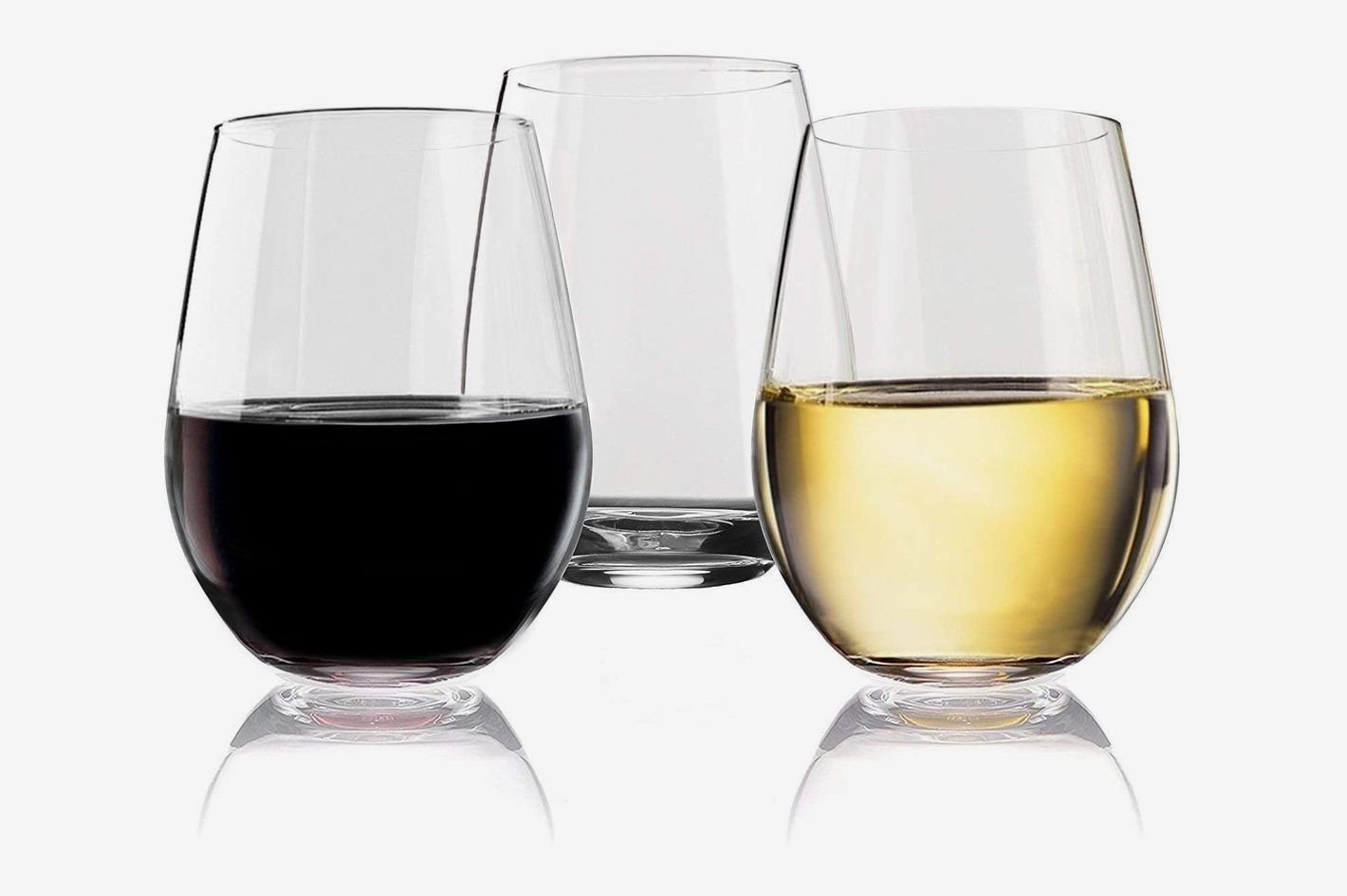 Vivocci Unbreakable Elegant Plastic Wine Glasses