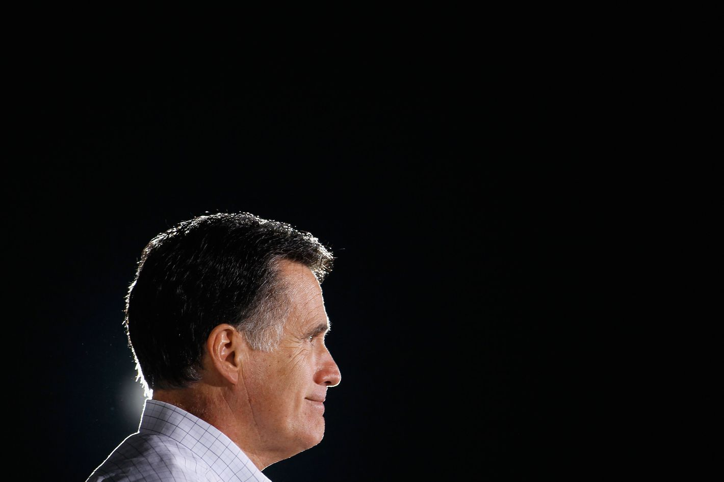 Republican presidential candidate, former Massachusetts Gov. Mitt Romney speaks during a campaign event at All-Star Building Material January 22, 2012.
