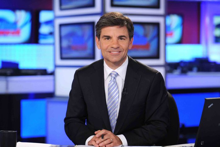 George Stephanopoulos on the set of THIS WEEK, airing on the ABC Television Network.