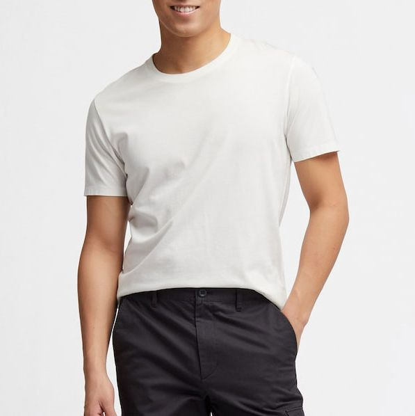 Men/'s Real silk Basic tee Tops T shirts V Neck Casual High end Smooth Soft Fall