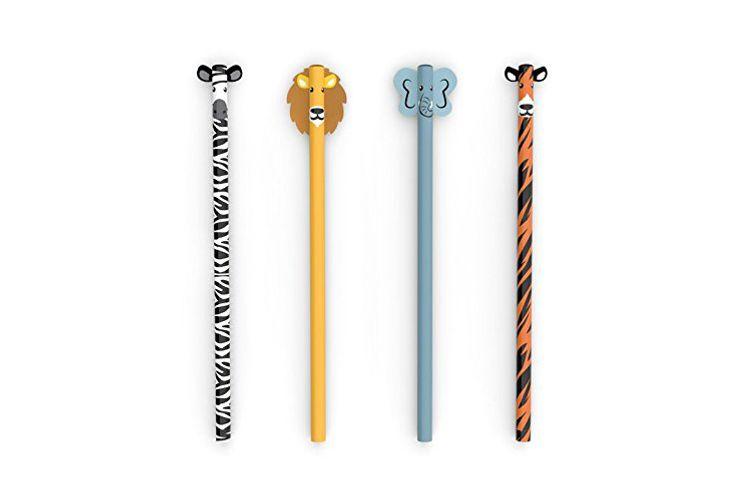 Kikkerland Safari Pencils, Set of 4 (4348)