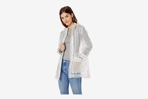 Levi's Women's Mid-Length Rubberized PU Swing Rain Jacket