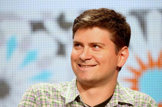 "Michael Schur speaks onstage at the ""Behind The Laughs"" panel at the 2014 Summer Television Critics Association at The Beverly Hilton Hotel on July 20, 2014 in Beverly Hills, California."