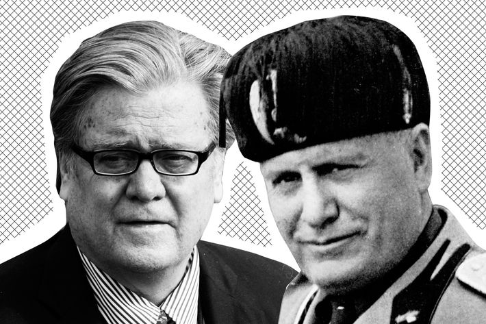 Steve Bannon and Benito Mussolini.