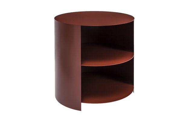 Hem Hide Side Table by Karoline Fesser