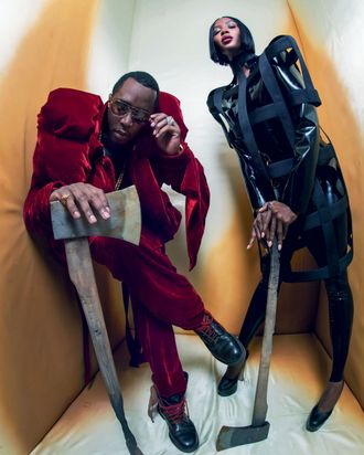 Naomi Campbell and Diddy for the 2018 Pirelli calendar.
