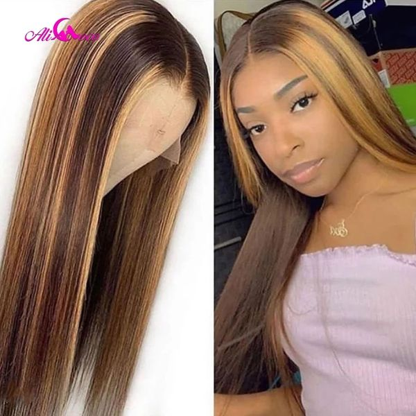 Ali Coco #4/30 Highlight Colored Human Hair Wigs