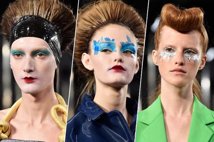 The beauty look at Margiela.