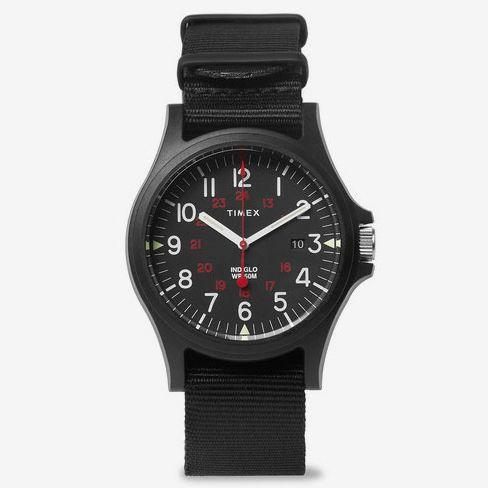Timex Acadia Resin And Grosgrain Watch - Black