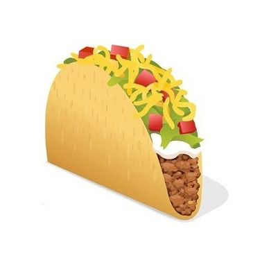 This emoji is practically a cartoon Taco Bell taco.