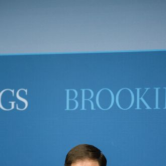 Sen. Marco Rubio (R-FL) waits to give an address on American foreign policy at the Brookings Institution on April 25, 2012 in Washington, DC. Rubio is widely considered to be a possible running mate for Republican presidential candidate Mitt Romney.