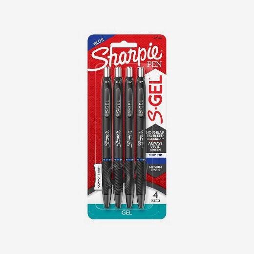 Sharpie 4pk Gel Pens S-Gel 0.7mm Blue