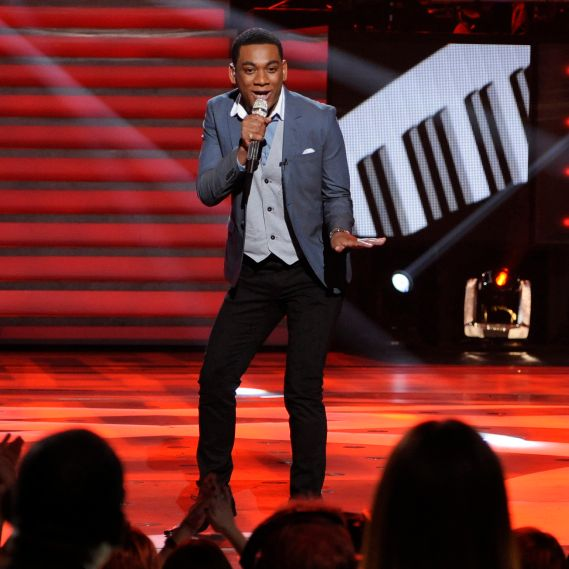 Josh Ledet performs in front of the Judges on AMERICAN IDOL