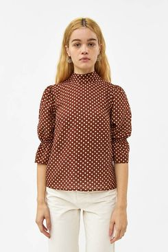 Farrow Julianne Polka Dot Top in Cocoa