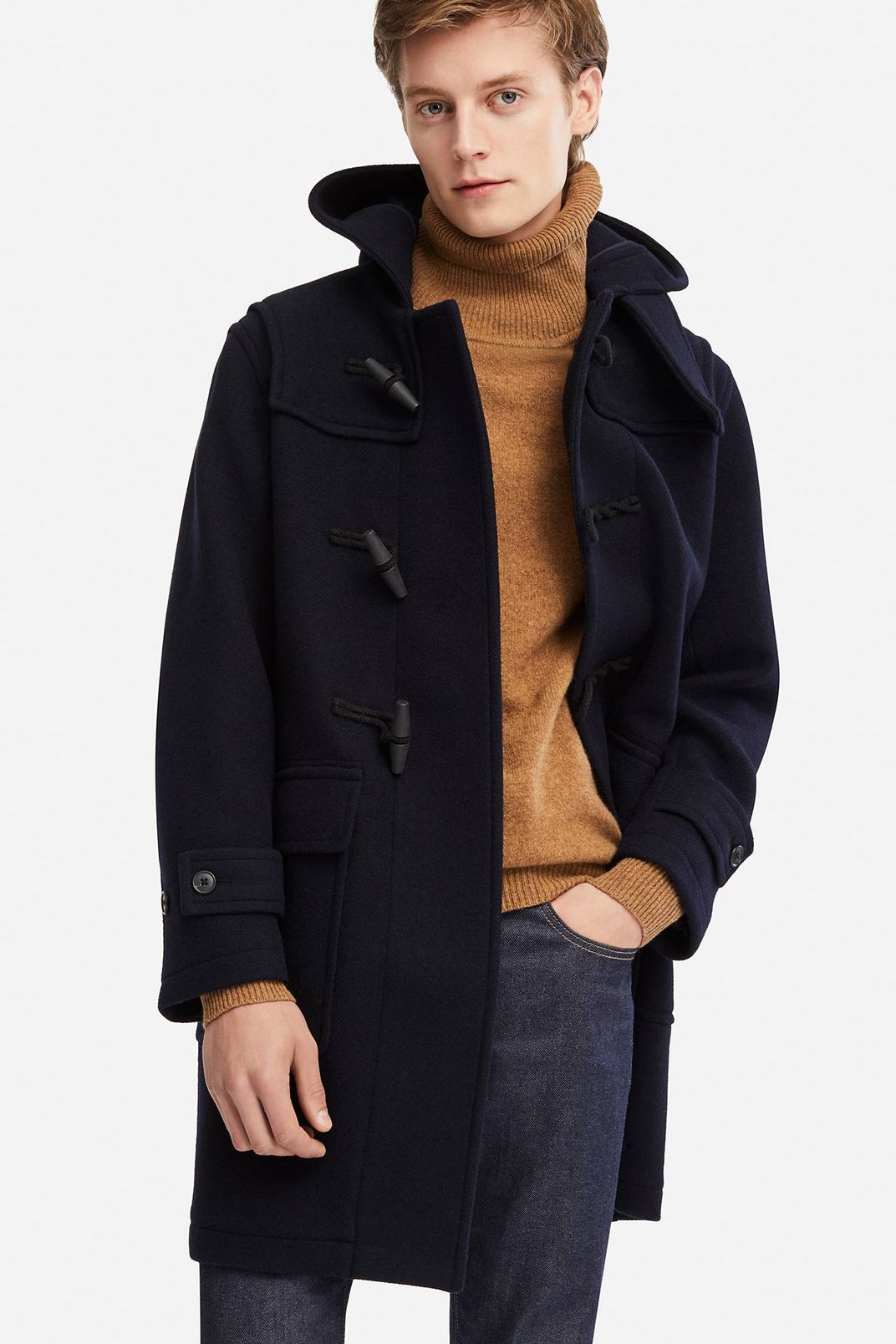 Uniqlo Men's Wool Blend Duffle Coat