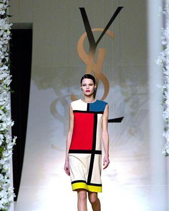 Saint Laurent's Mondrian dress.