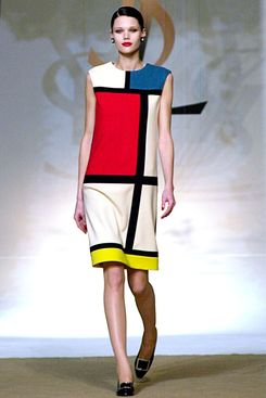 Saint Laurent's Mondrian dress.