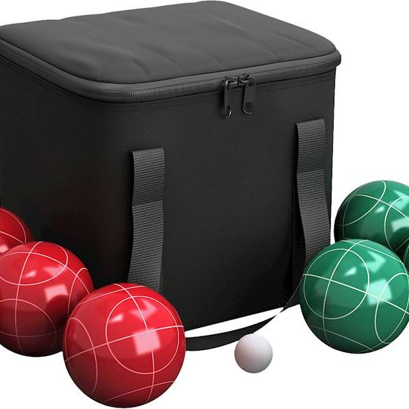 Hey! Play! Bocce Ball Set - Red/Green