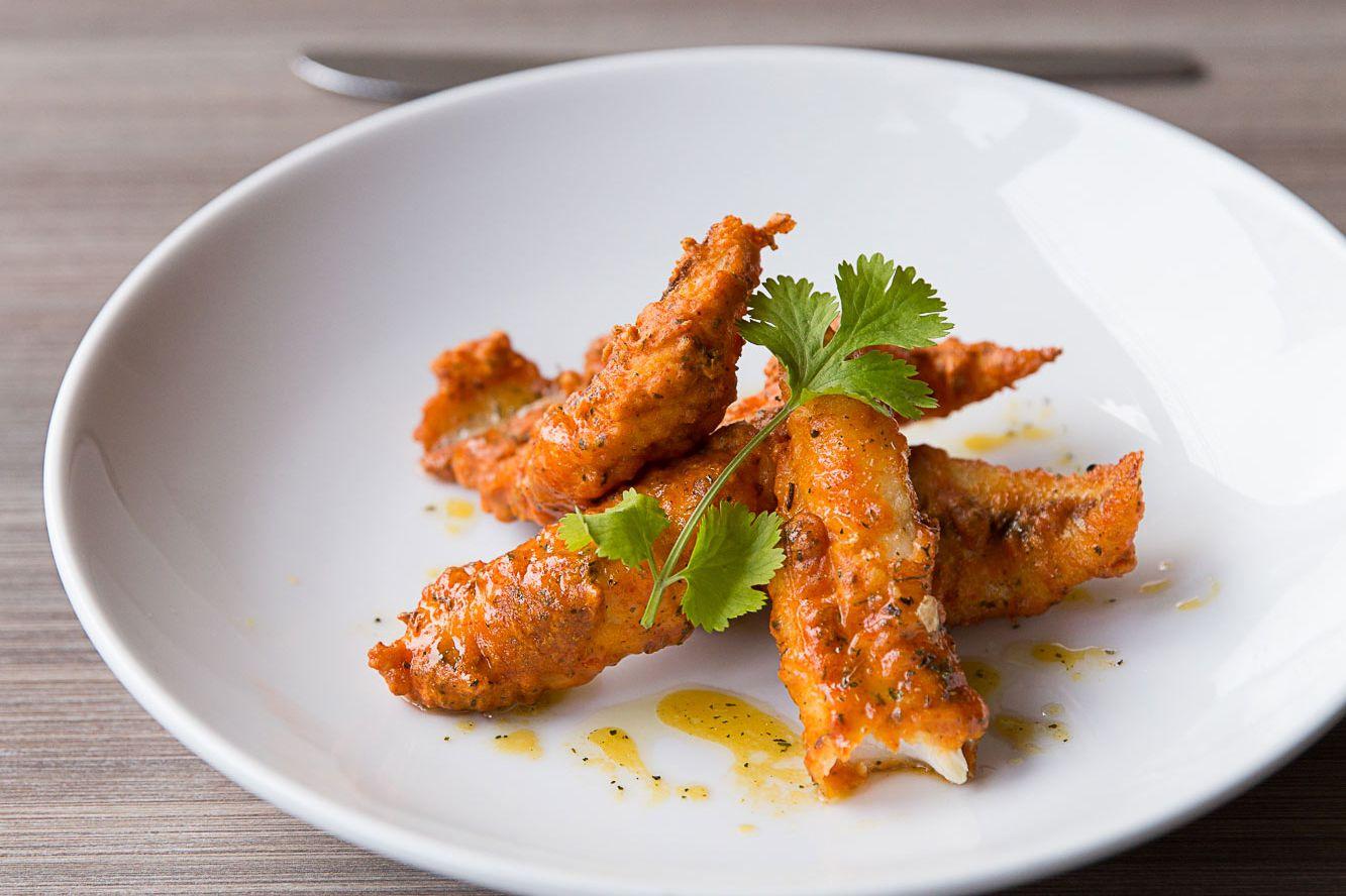 Babu Ji's Punjabi-Szechuan fried fish.