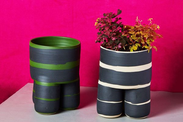 Workaday Handmade Striped Planter