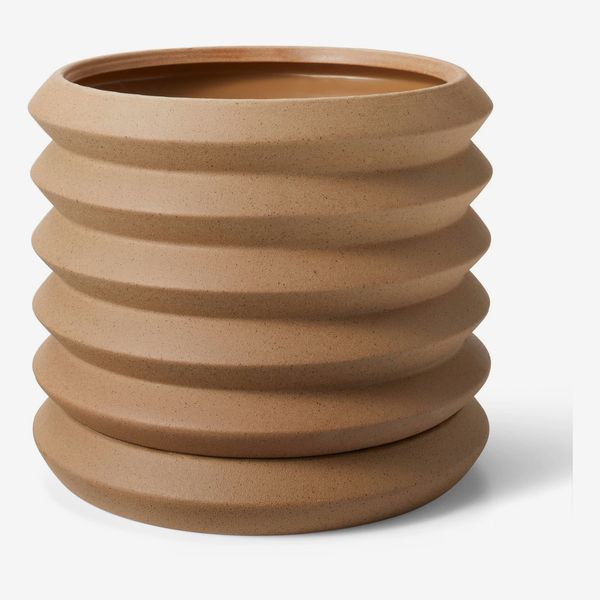 Hilton Carter for Target Coiled Stoneware Planter Natural
