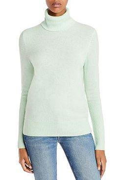 Aqua Cashmere Turtleneck Sweater