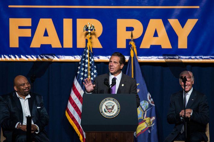 Joe Biden And NY Governor Andrew Cuomo Discuss Economy In New York City