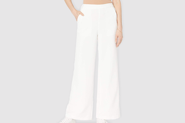 The Drop Women's Rosa Wide Leg Pull-on Soft Trouser