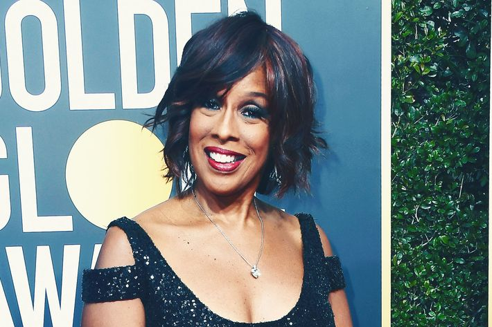 Gayle King at the Golden Globes.
