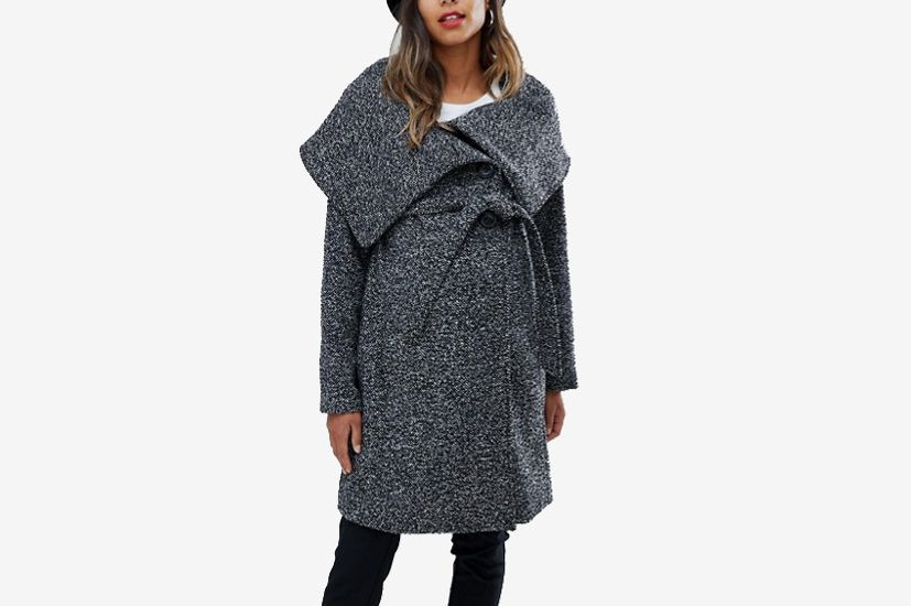 Mamalicious Wool Wrap Coat