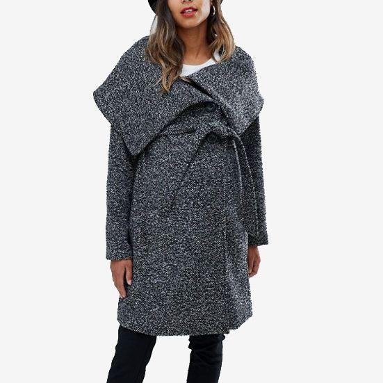 Mamalicious Wool Wrap Coat