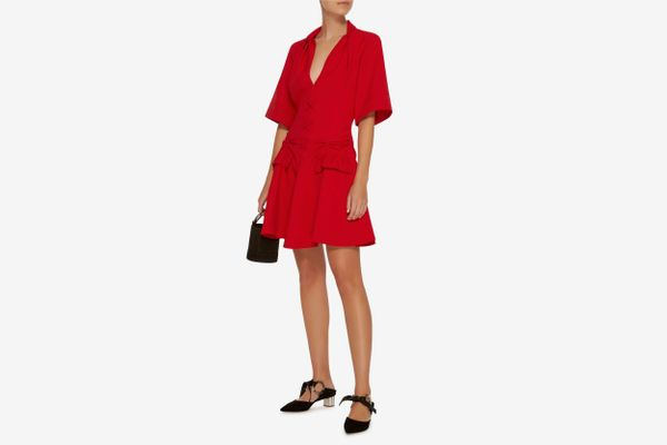 Carven Pleated Front Mini Dress