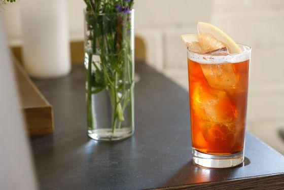 Arrowhead LTD: mezcal, campari, carpano antica Italian vermouth, and IPA.