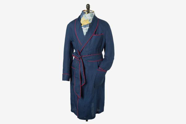Paul Stuart Solid Linen Robe