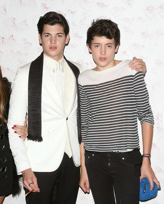 NEW YORK, NY - SEPTEMBER 10: Peter Brant Jr. and Harry Brant attend the Barneys New York Fete In Honor Of Carine Roitfeld at The Westway on September 10, 2011 in New York City. (Photo by Jim Spellman/WireImage)
