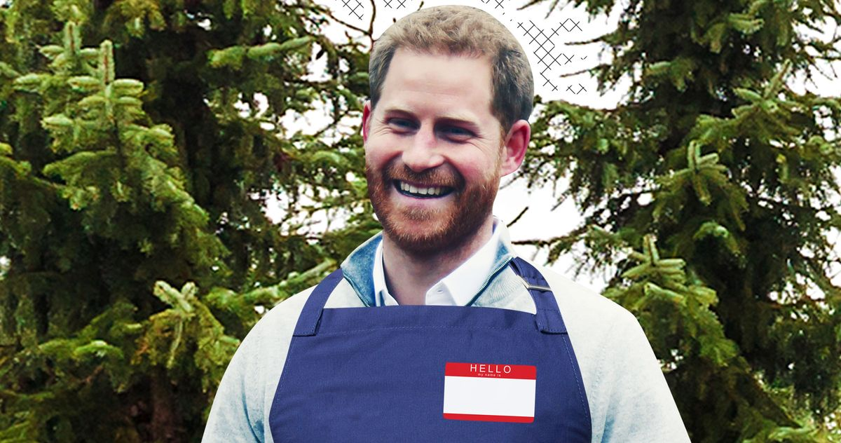 Prince Harry Mistaken for Normie Christmas Tree Worker