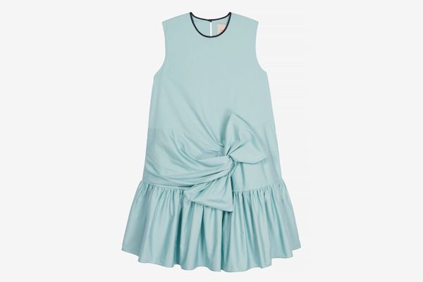 Roksanda Twist-Front Cotton-Poplin Mini Dress