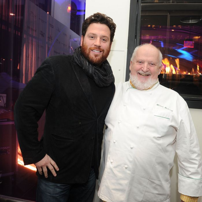 Richard, right, with fellow empire-builder Scott Conant.