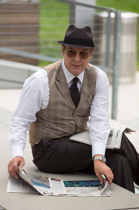 "THE BLACKLIST -- ""Lord Baltimore"" Episode 201 -- Pictured: James Spader as Raymond ""Red"" Reddington -- (Photo by: Eric Liebowitz/NBC)"