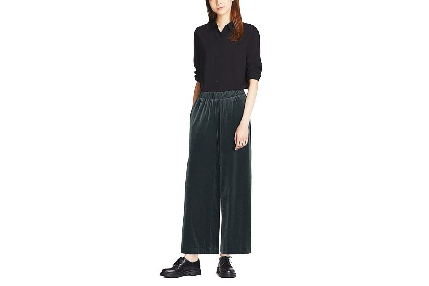 Velour Wide Leg Pants