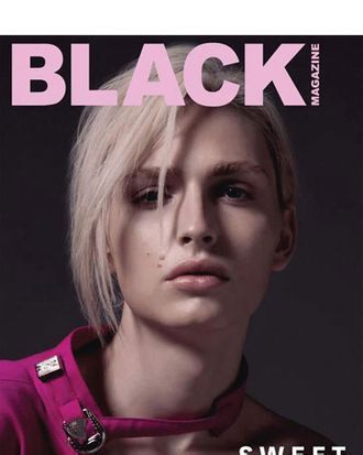 Andrej Pejic for <em>Black</em>.