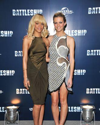 Rihanna and Brooklyn Decker.