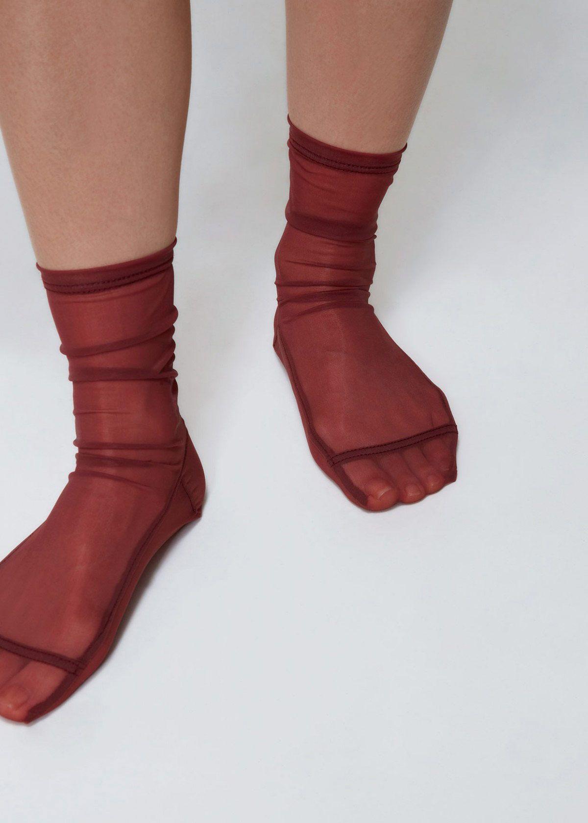 Darner Solid Mesh Socks